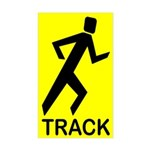 Shadow Runner Track Rectangle Sticker