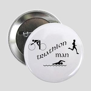 """Triathlon Man 2.25"""" Button"""