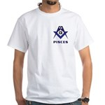Masonic Pisces Sign White T-Shirt