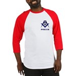 Masonic Pisces Sign Baseball Jersey