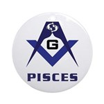 Masonic Pisces Sign Ornament (Round)