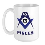 Masonic Pisces Sign Large Mug