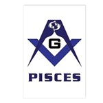 Masonic Pisces Sign Postcards (Package of 8)