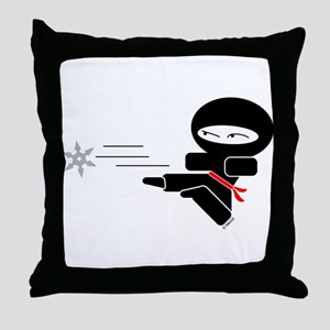 Lil Ninja Throw Pillow
