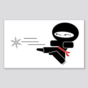 Lil Ninja Rectangle Sticker