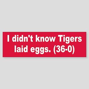 Egg Lying Tiger Bumper Sticker