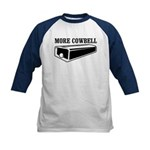 more cowbell Kids Baseball Jersey