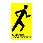 Shadow Runner Cross Country Rectangle Sticker