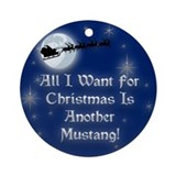 Mustang Round Ornaments