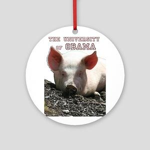 The University of Obama Zoolo Ornament (Round)