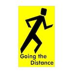 Shadow Runner Distance Rectangle Sticker