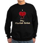 I Love (Heart) My Martial Art Sweatshirt (dark)