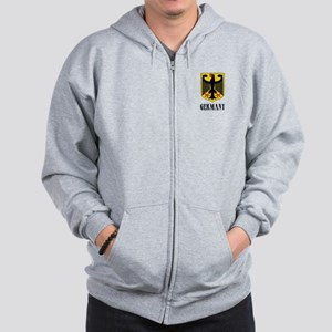 German Coat of Arms Zip Hoodie
