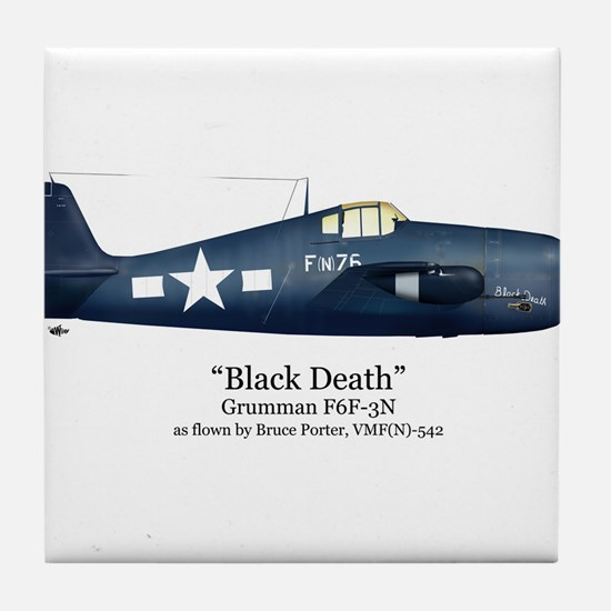 Black Death/Porter Stuff Tile Coaster