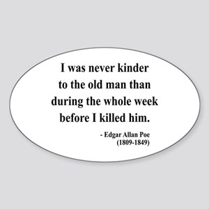 Edgar Allan Poe 20 Oval Sticker