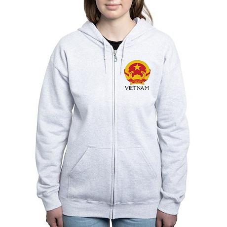 Vietnam Coat of Arms Women's Zip Hoodie