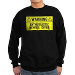Warning: Newbie Diver Sweatshirt (dark)