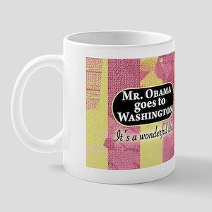 James Stewart/Barack Obama holiday mug