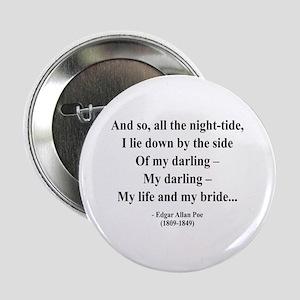 """Edgar Allan Poe 21 2.25"""" Button"""