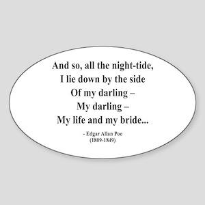 Edgar Allan Poe 21 Oval Sticker
