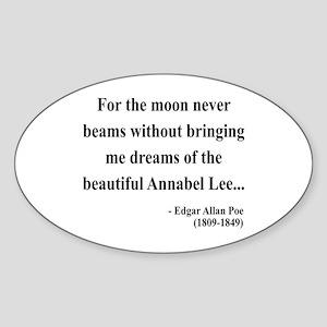 Edgar Allan Poe 22 Oval Sticker