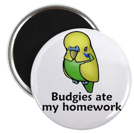 "Budgies ate my homework 2.25"" Magnet (100 pack)"