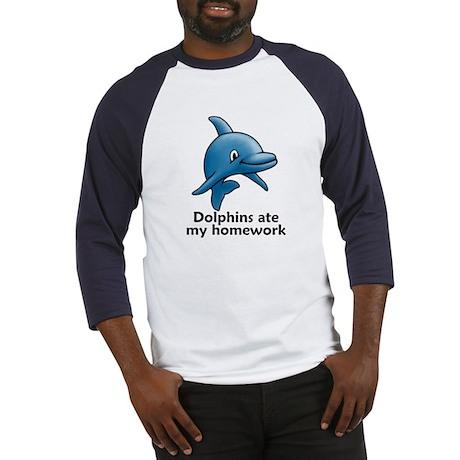 Dolphins ate my homework Baseball Jersey