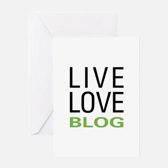Live Love Blog Greeting Card
