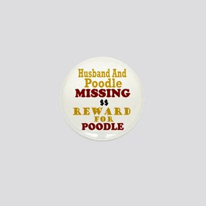 Husband & Poodle Missing Mini Button