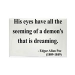 Edgar Allan Poe 24 Rectangle Magnet