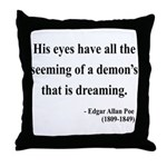 Edgar Allan Poe 24 Throw Pillow