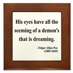 Edgar Allan Poe 24 Framed Tile
