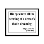 Edgar Allan Poe 24 Framed Panel Print