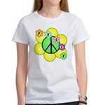 Peace Blossoms / Green Women's T-Shirt