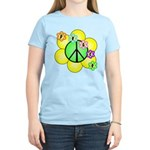 Peace Blossoms / Green Women's Light T-Shirt