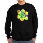 Peace Blossoms / Green Sweatshirt (dark)