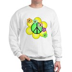 Peace Blossoms / Green Sweatshirt