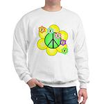 Peace Blossoms / Green Sweatshirt