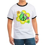 Peace Blossoms / Green Ringer T
