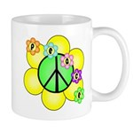 Peace Blossoms / Green Mug