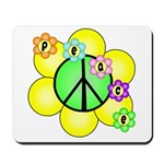 Peace Blossoms / Green Mousepad