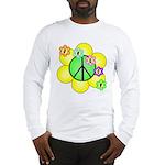 Peace Blossoms / Green Long Sleeve T-Shirt