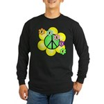 Peace Blossoms / Green Long Sleeve Dark T-Shirt