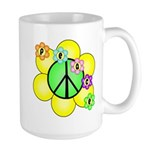 Peace Blossoms / Green Large Mug