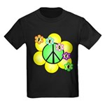 Peace Blossoms / Green Kids Dark T-Shirt
