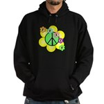 Peace Blossoms / Green Hoodie (dark)