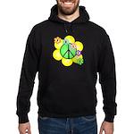 Peace Blossoms / Green Hoodie (dark)