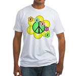 Peace Blossoms / Green Fitted T-Shirt