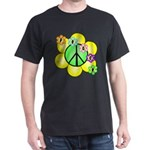 Peace Blossoms / Green Dark T-Shirt