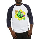 Peace Blossoms / Green Baseball Jersey